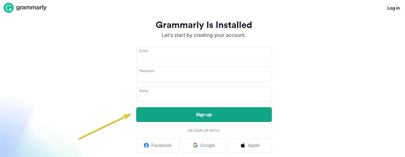 5th step to add grammarly extension